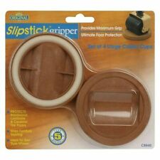 Slipstick CB840 Grip Large Castor Wheel Cups Protects Floor Stop Furniture Moving - 56mm