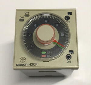 Omron H3CR-F8 Twin Timer 8 Pin 1.2s-300hr 100-240VAC 100-125VDC H3CR Solid State