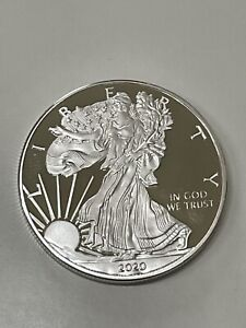 1 onza de plata / 1 oz silver - American Eagle - 1 Dollar - 2020