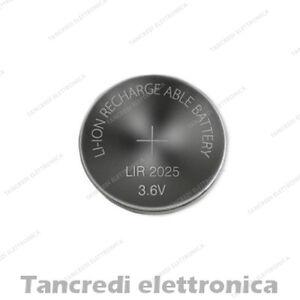 Batteria ricaricabile LIR 2025 litio bottone rechargeable coin battery lithium