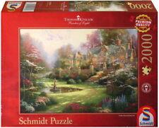 Schmidt Jigsaw Puzzle Gardens Beyond Spring Gate Thomas Kinkade 2000 Pcs #57453