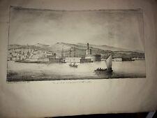 ALGÉRIE. VUE DU MÔLE et De La Ville D'ALGER. Lithographie de 1830