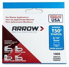 "Arrow Fastener 505M1 1000 Pack 5/16"" T50 Monel Rustproof Marine Staples"