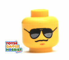 *NEW* LEGO Minifigure Minifig Head- Dark Sun Glasses Cop Police Shades City #889