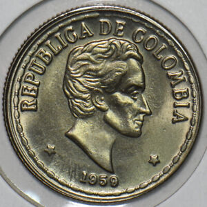 Colombia 1959 20 Centavos Eagle animal 196014 combine shipping