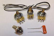 Jazz Bass Guitar Wiring Kit WITH  BLEND SETUP CTS 500K Pots Orange Drop .047uf