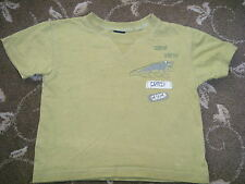 NEXT - BABY GREEN T SHIRT - AGE 12 TO 18 MONTHS - LOGO SNAP SNAP CRAZY CROCK