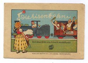 Eisenbahnfahrt nach Kinderland 1947 Leporello Wilkens Verlag sehr selten