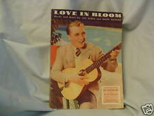 Sheet Music, Bing Crosby, paramount sheet music, 1934, Love in Bloom, Movie Star
