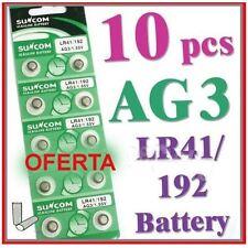 Lote de 10 unidades de Baterias Alcalinas AG3 / LR41 / 192 1.55V - Pilas botón