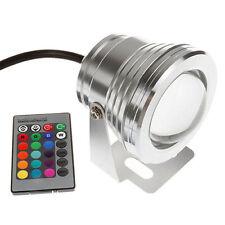 10W RGB LED Extérieur Lampe Multicolore Etanche 12V Luminaire Spot Projecteur