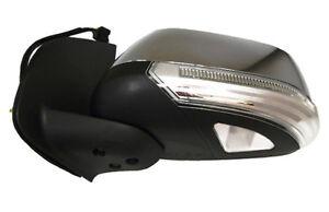 Door Mirror L/H Chrome Electric+LED+Puddle Lamp For Nissan Navara D40 05> RHD