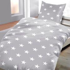 Linge de lit gris avec etoiles 135 x 200 cm 80 x 80 cm 100% coton