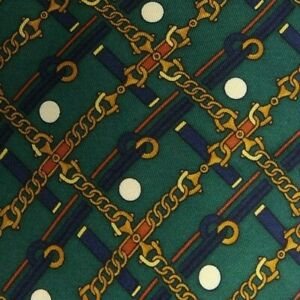 Green Equestrian Silk LONGCHAMP Tie