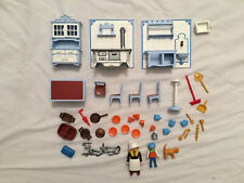 Playmobil #5322 Victorian Mansion Kitchen Maid Boy Cat Accessory Lot