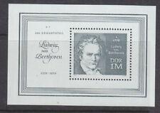 Germany-Ddr 1970 Beethoven mini sheet Mnh