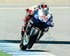 Jorge Lorenzo SIGNED MotoGP Champion Race Winner YAMAHA 10x8 Photo RARE AFTAL