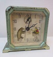 Rare Antique Keebler Alarm Clock Organ Grinder Bear