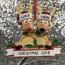 Reindeer Couple Hanging Ornament, Christmas Decoration