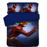 Single/Double/Queen/King Bed Quilt/Doona/Duvet Cover Set Pillowcase The Flash