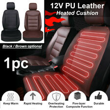 PU Leather Car Front Seat Heater Heating Cushion Pad Mat Cover Winter Warmer 12V
