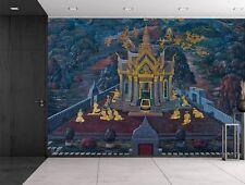 Wat Phra Kaew temple fresco - Bangkok Thailand - Gold leaf - Wall Mural - 66x96