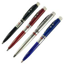 Mini 3 in 1 Red Laser Pointer + Ballpoint Pen + LED Flashlight Black Lamp L5YG
