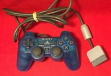 Official Sony Clear Blue PlayStation 1 PS1 Analog Controller - TESTED SCPH-1200