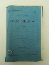 SOCIETE D'EMULATION de la VENDEE année 1865  très rare sociétés savantes, comice