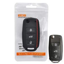 Silicone Key Case Cover For VW POLO Bora Tiguan Passat Scirocco Jetta Caddy