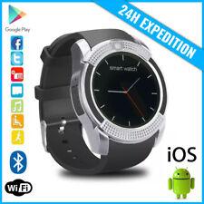 Original V8 Smart Watch Montre Horloge Bluetooth Android iOS Silver