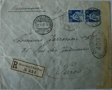 Switzerland Censored Mail to France: 1917 3x Envelopes + Postcard.