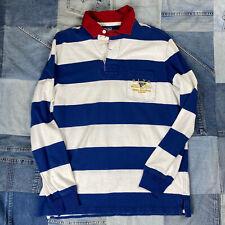 Vtg Polo Ralph Lauren Yacht Club Rugby Striped M