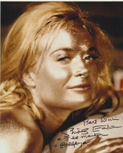 """Shirley Eaton In Person signed 10"""" x 8"""" photograph - James Bond - P219"""