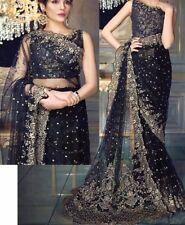 Bridal/Wedding indian bollywood Heavy Embroided designer Saree/Sari suit/dress