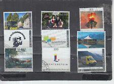 Schönes Lot Privatmarken aus Liechtenstein gestempelt