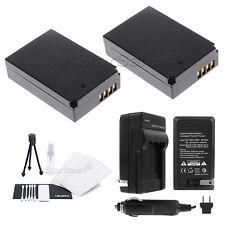 LP-E12 Battery x2 + Charger + Bonus Starter Kit For Canon EOS M SL1, EOS M50