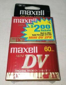 Maxell Mini DV 60 Minute 2-Pack - New and Sealed - Vintage AV Tape