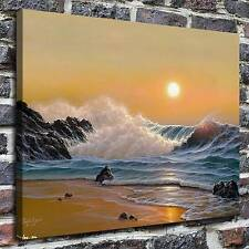 Noelito, ocean waves Paintings HD Print on Canvas Home Decor Wall Art Pictures