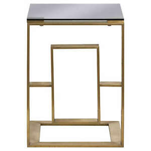 Sofa Table In Brushed Brass | Brass & Glass Side Table | New Season Side Tables