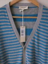 Men's Long Cotton Striped Button-Front Jumpers & Cardigans