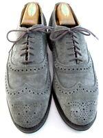 """Allen Edmonds """"Neumok"""" Men's Wingtip Oxfords 8.5 D Grey Suede  (588)"""