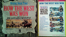 """HOW THE WEST WAS WON - MGM LP, 32 PG SONGBOOK, 27"""" X 41"""" ONE SHEET"""
