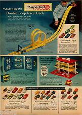 1970 ADVERT 4 PG Matchbox Superfast Race Track Race N Rally Truck Set Farm