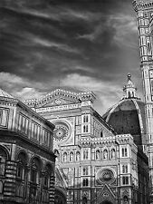 ART PRINT PHOTO ARCHITECTURE FLORENCE DUOMO CATHEDRAL BLACK WHITE ITALY LFMP0038