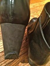 CAMPER TOGETHER ROMAIN KREMER BLACK LEATHER Wedge Heel Ankle Boots 40 US 9-9.5