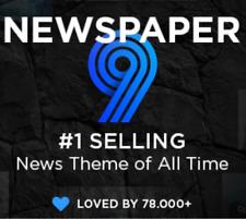 Newspaper 9 wordpress theme, best news them - Last version - Free update