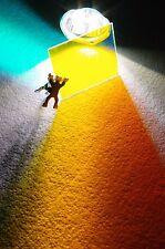 Cuadrado 60.0 x 60.0 mm farbverändernde cristal hqo naranja-amarillo