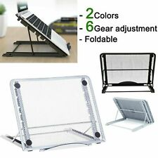 More details for universal tablet laptop pad stand holder riser folding table adjustable support