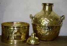 Egyptian Egipto Mısır Египет Ägypten Vintage Brass Bean Pot with Lid, (Damasa)